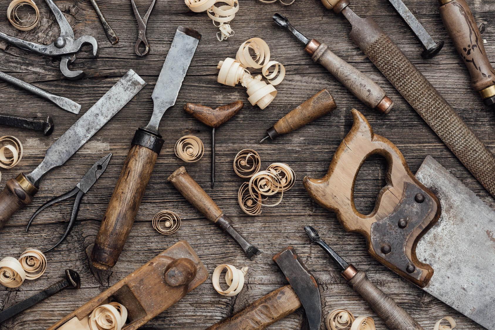 Werkzeug in einer Schreinerei